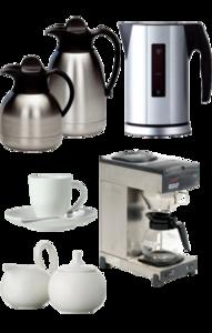 Koffie thee set compleet